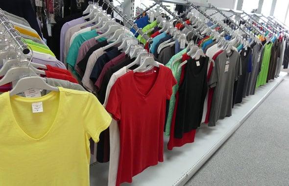 Stockage des textiles prêt a imprimer